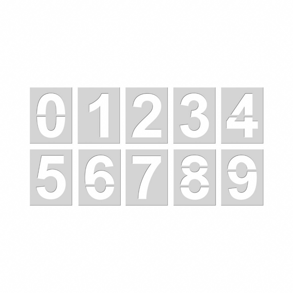 Forma p/ Pintura de Números PVC Safe Park
