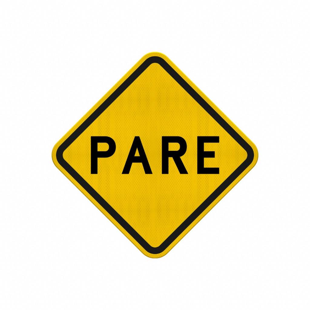 Parada Obrigatória à Frente (Cód. A-15) Safe Park