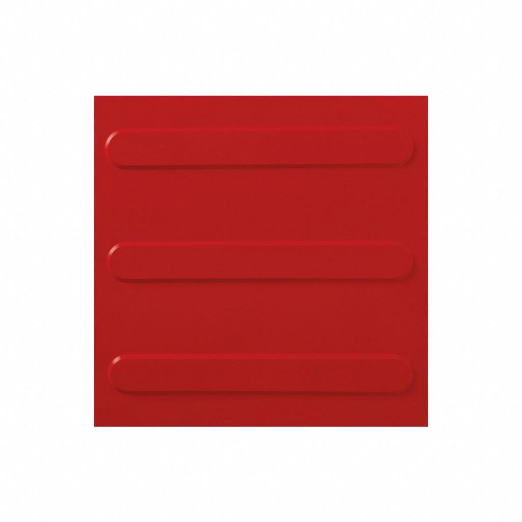 Piso Tátil Direcional 25x25cm – Vermelho Safe Park