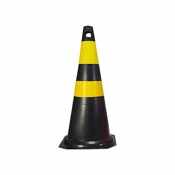 Cone Rígido – Preto/Amarelo
