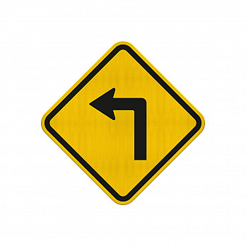 Curva Acentuada à Esquerda (Cód. A-1a)