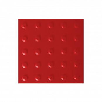 Piso Tátil Alerta 25x25cm – Vermelho