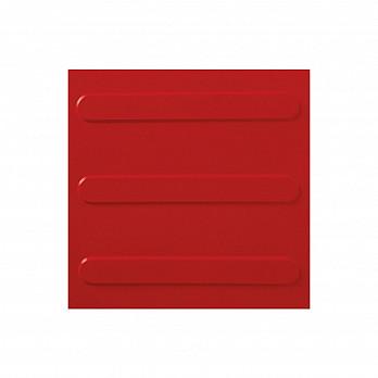 Piso Tátil Direcional 25x25cm – Vermelho