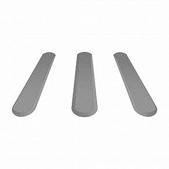 Piso Tátil Elemento Direcional - PVC Cinza (Und.)
