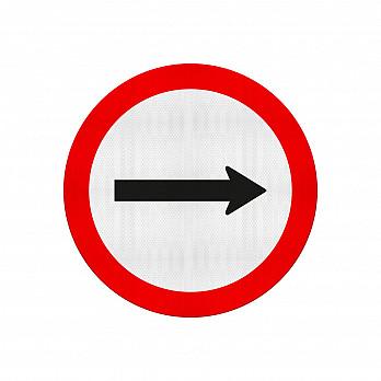 Sentido de Circulação da Via / Pista (Cód.R-24a)