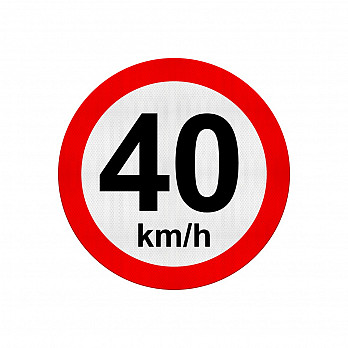 Velocidade Máxima 40Km/h